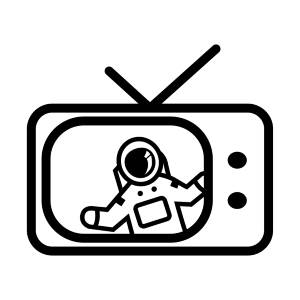 Astronaut image on a TV