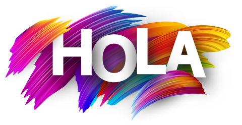Hola Text Colorful Spanish Voice Over Talent